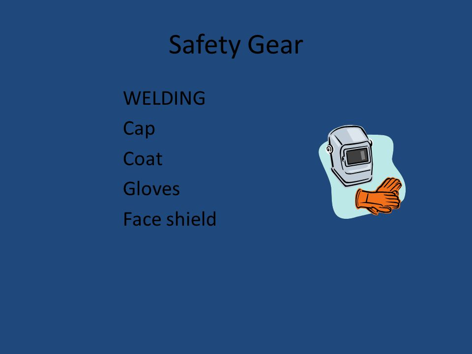 Safety Gear WELDING Cap Coat Gloves Face shield