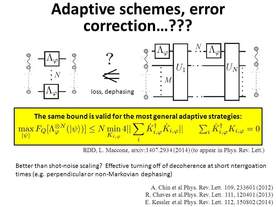 Adaptive schemes, error correction… .