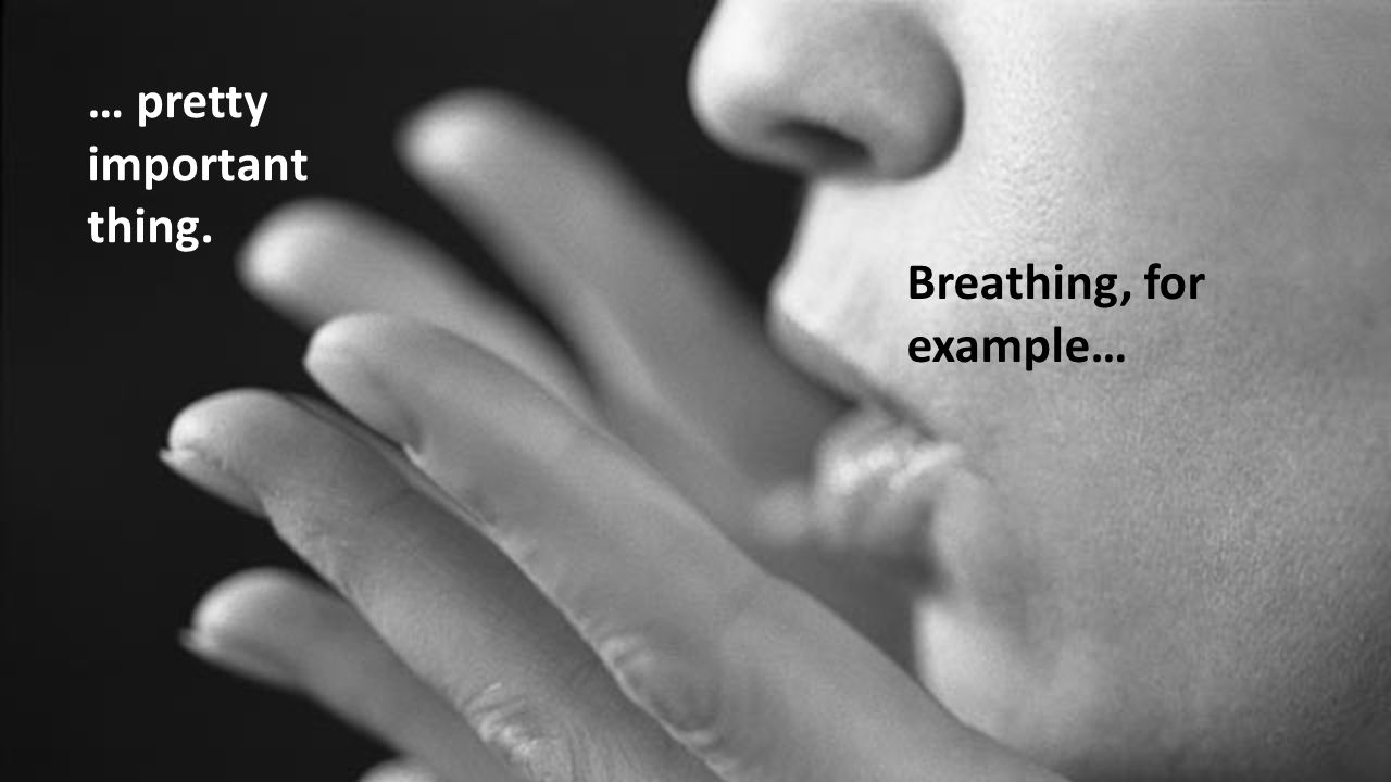Breathing, for example… … pretty important thing.