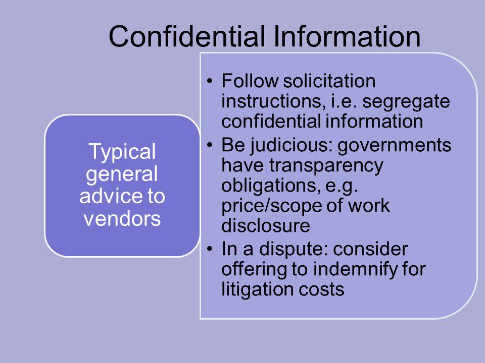 Confidential Information Follow solicitation instructions, i.e.