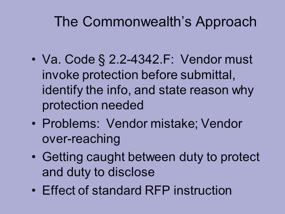 The Commonwealth's Approach Va.