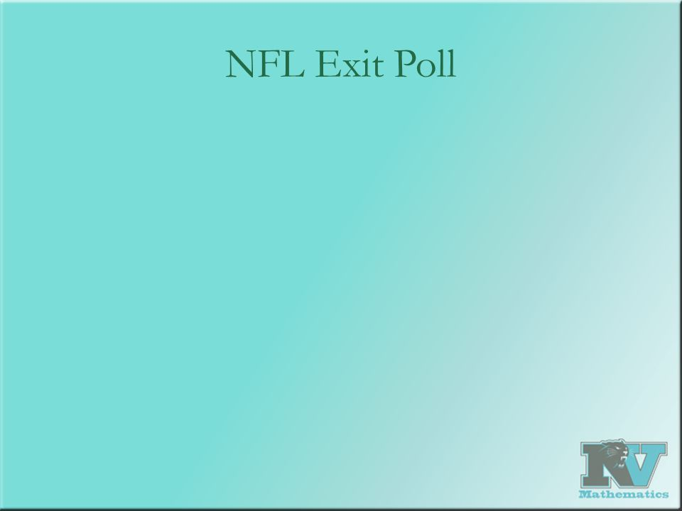 NFL Exit Poll