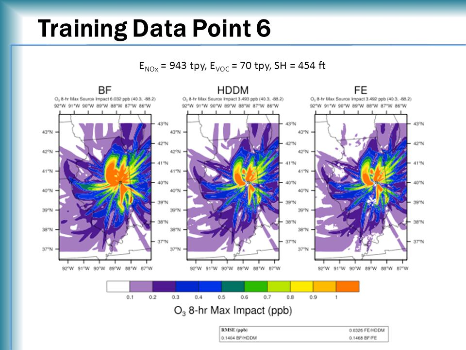Training Data Point 6 E NOx = 943 tpy, E VOC = 70 tpy, SH = 454 ft
