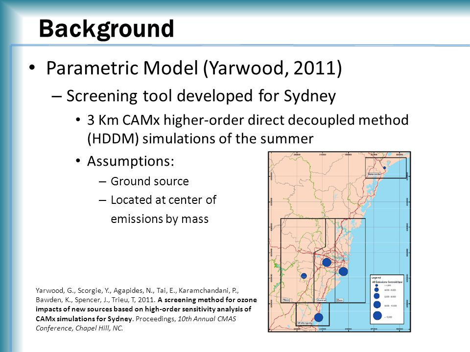 Acknowledgments Scott Leopold – IL EPA Greg Yarwood – ENVIRON Kirk Baker – OAQPS Margaret McCourtney – MN PCA Randall Robinson – EPA Region 5 Mark Derf – IN DEM