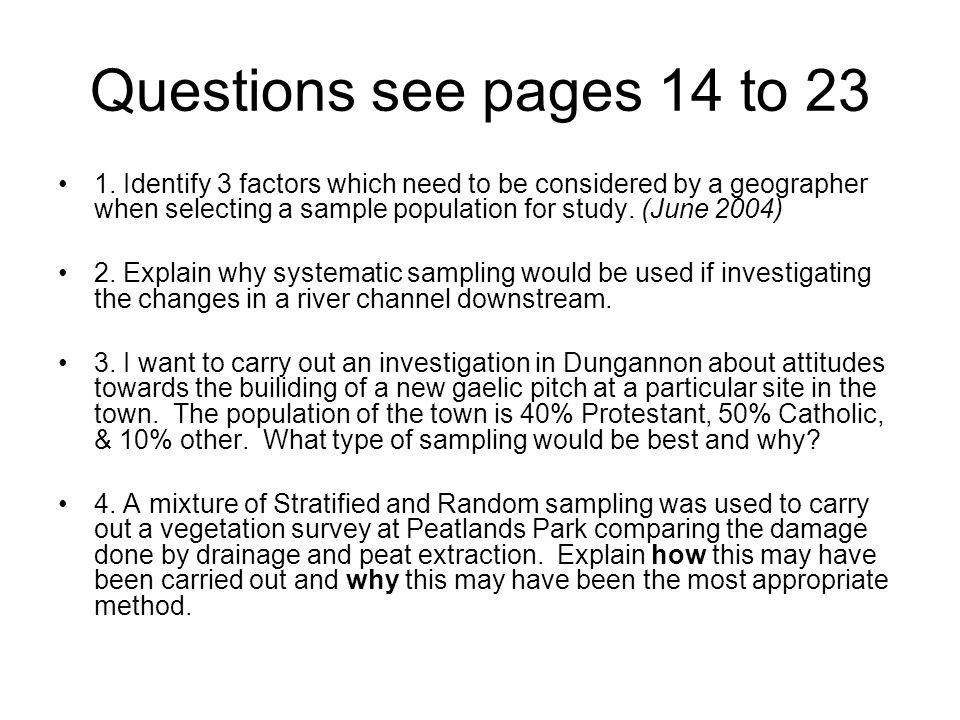 Questions see pages 14 to 23 1.