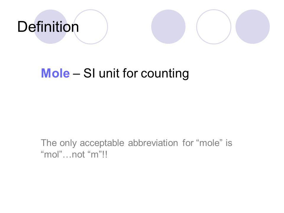 Molar mass for molecules The molar mass for a molecule = the sum of the molar masses of all the atoms