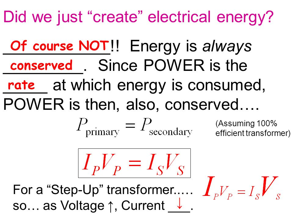 Did we just create electrical energy.____________!.