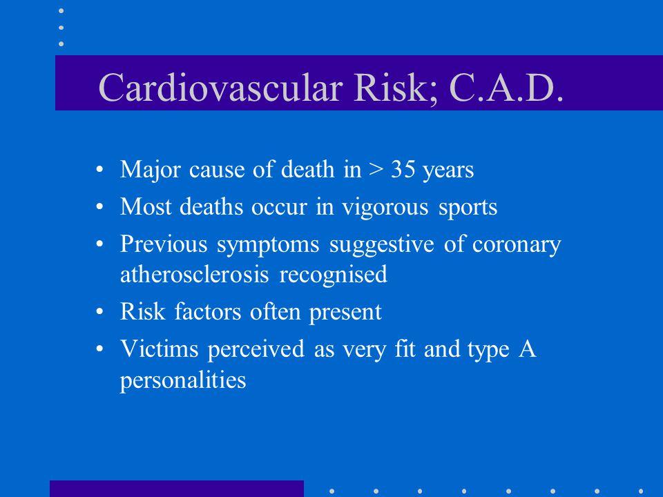 Cardiovascular Risk; C.A.D.