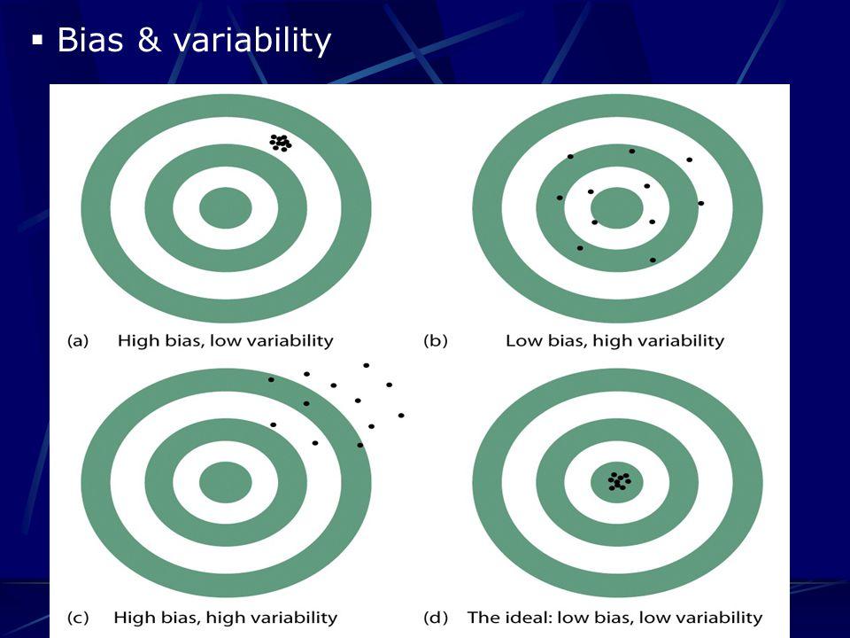  Bias & variability