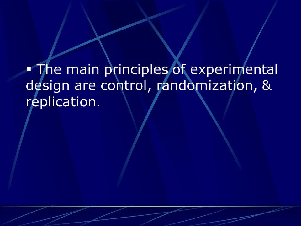 The Principles of Sample Design