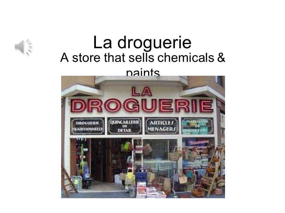 Un bureau de tabac (Un tabac) (A store that sells newspapers, food, cigarettes, etc.)