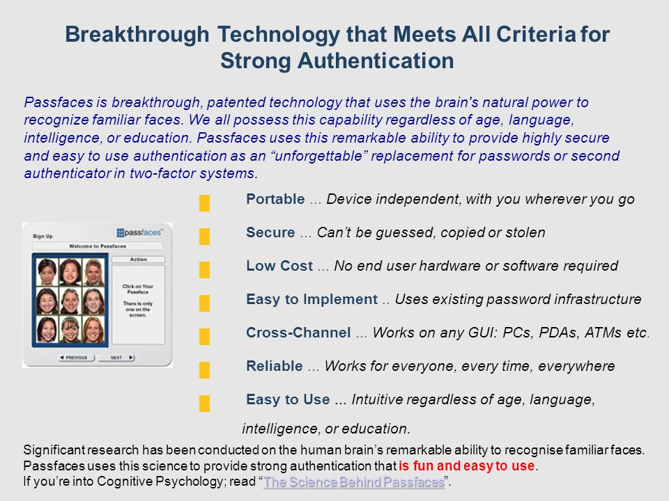 Breakthrough Technology that Meets All Criteria for Strong Authentication █ Portable...