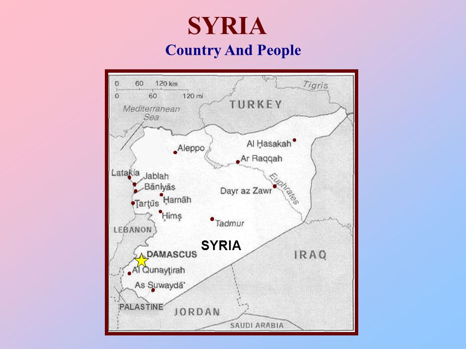 SYRIA Country And People SYRIA PALASTINE