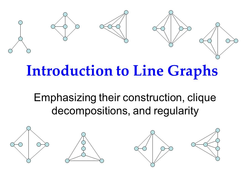 Introduction to Line Graphs Emphasizing their construction, clique decompositions, and regularity