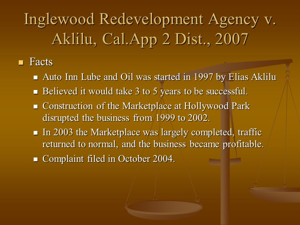 Inglewood Redevelopment Agency v.
