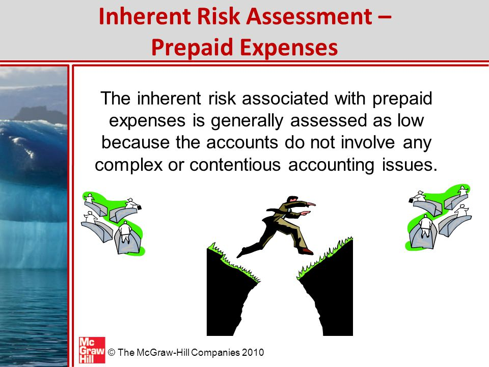 © The McGraw-Hill Companies 2010 Control Risk Assessment – Prepaid Expenses Because prepaid expenses are normally processed through the purchasing process, control activities in purchasing should ensure that each item is properly authorized and recorded.