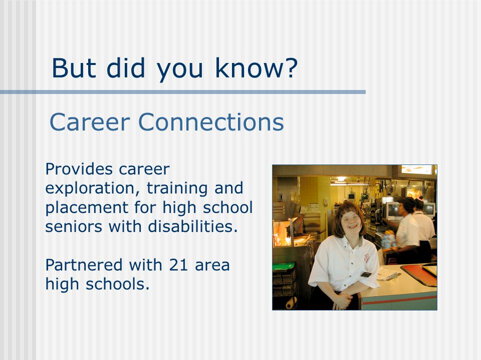 Partnered with 21 area high schools.But did you know.