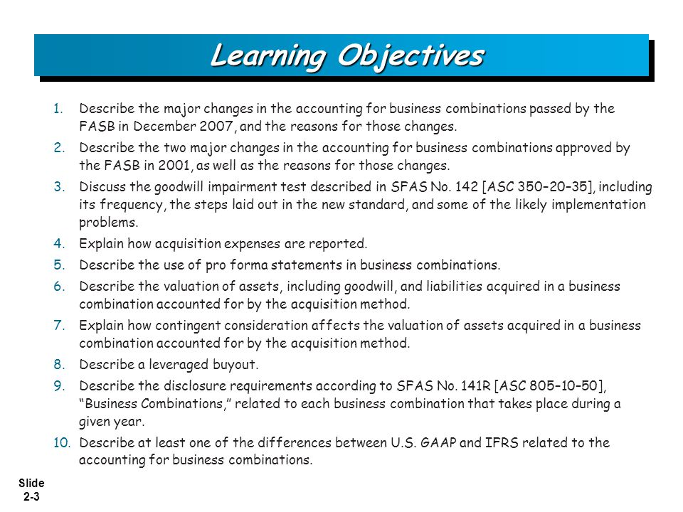 Slide 2-4 What's New.SFAS No.