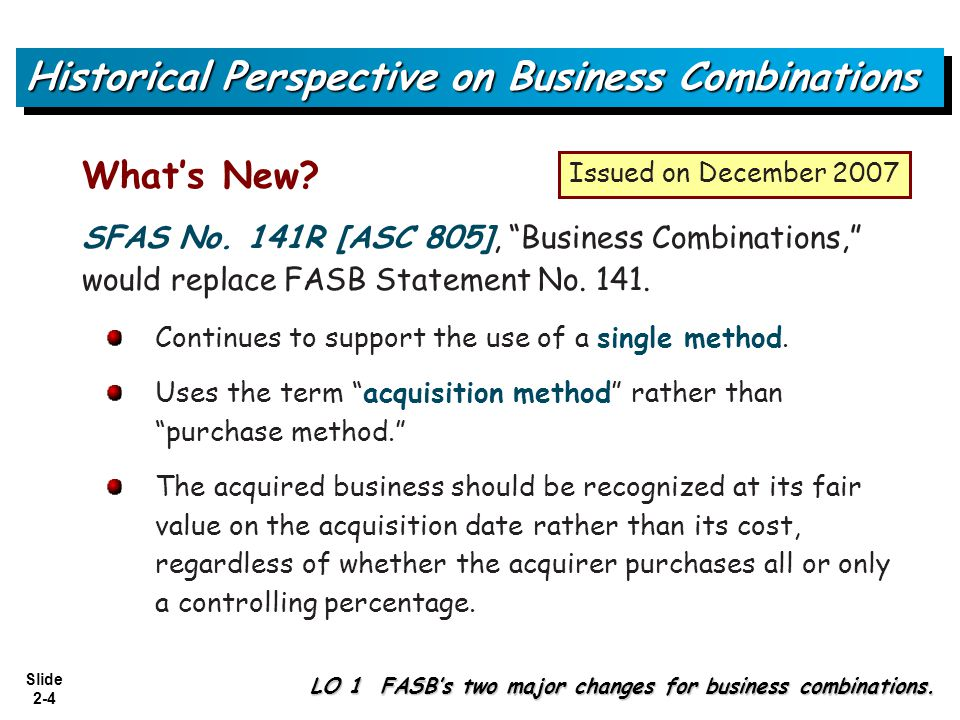 Slide 2-25 Pro forma statements serve two functions in relation to business combinations: 1)to provide information in the planning stages of the combination and 2)to disclose relevant information subsequent to the combination.
