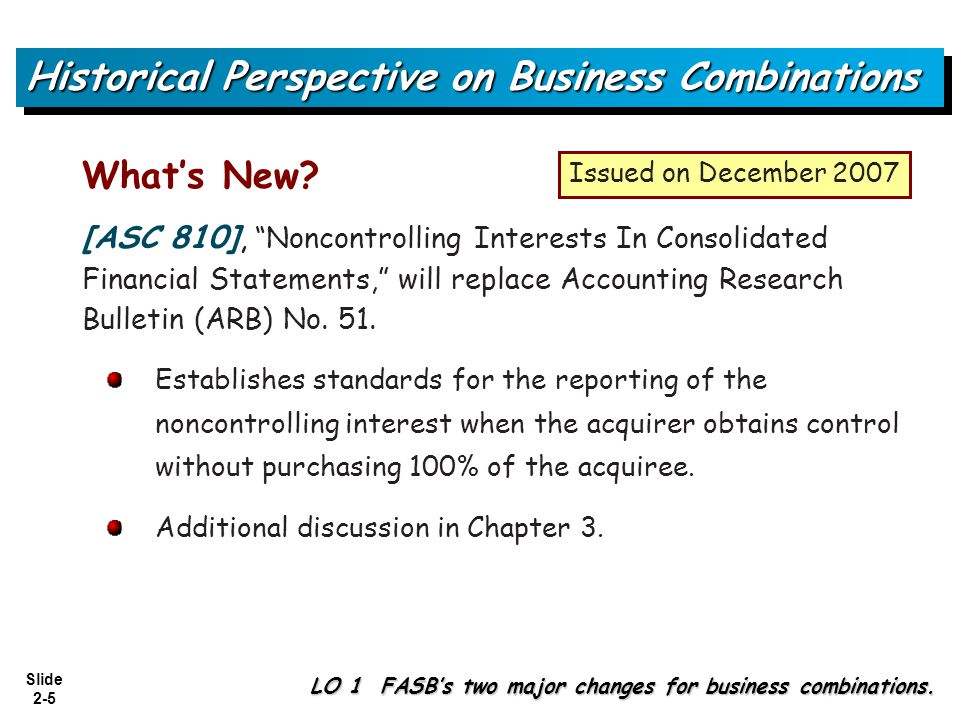 Slide 2-36 Explanation and Illustration of Acquisition Accounting LO 6 Valuation of acquired assets and liabilities assumed.