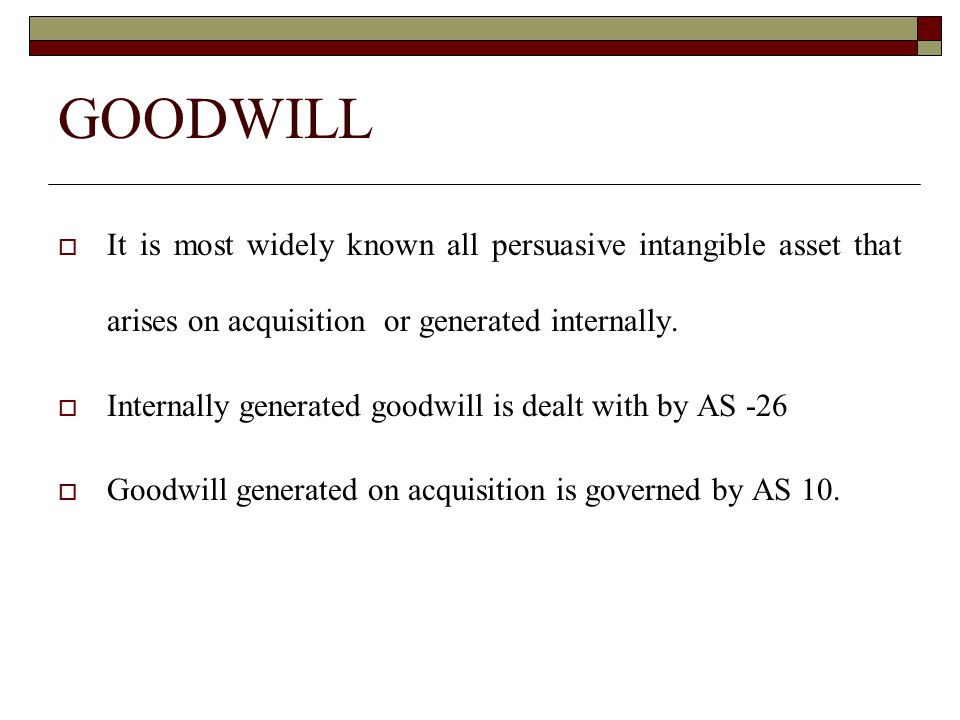 Goodwill, in general, is recorded in the books only when some consideration in money or money's worth has been paid for it.