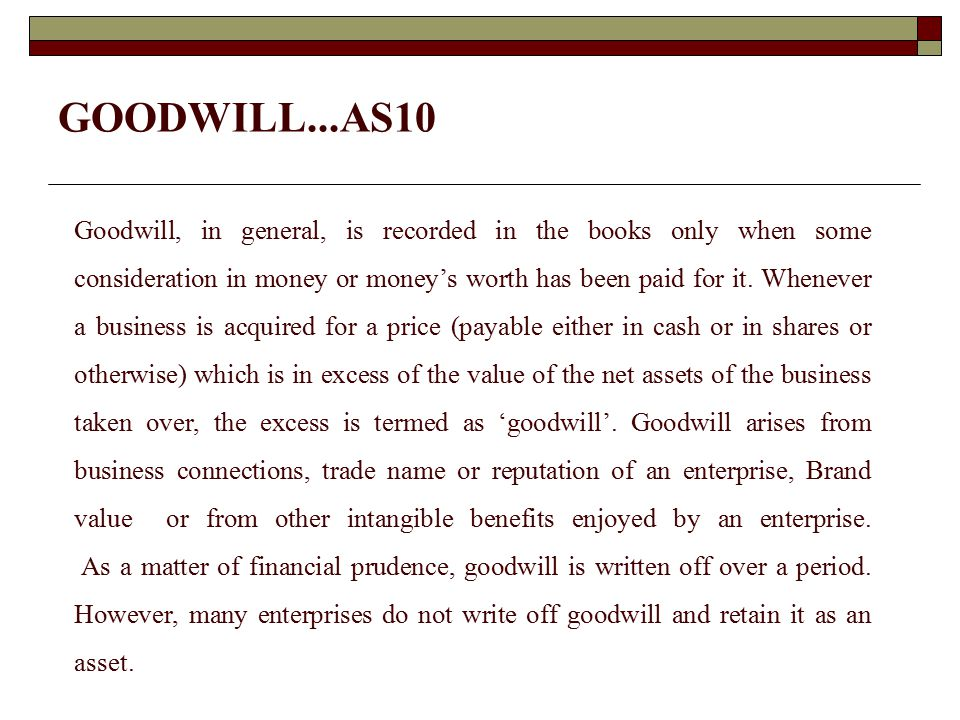 Goodwill – Super Profits Method  No of Years Purchased Method - Goodwill is calculated on the basis of Super Profits i.e.