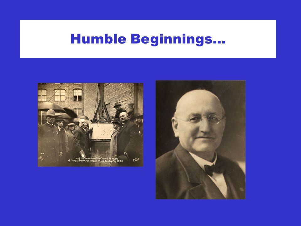 Humble Beginnings…