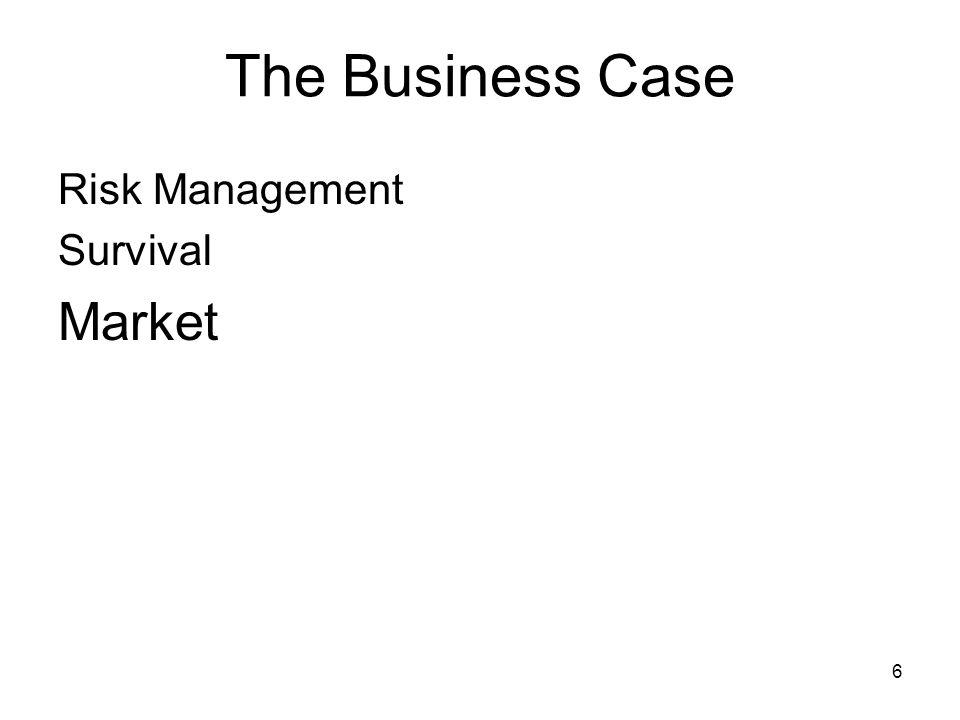 6 The Business Case Risk Management Survival Market