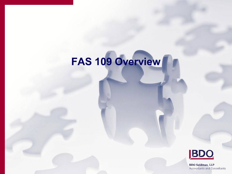 FAS 109 Overview