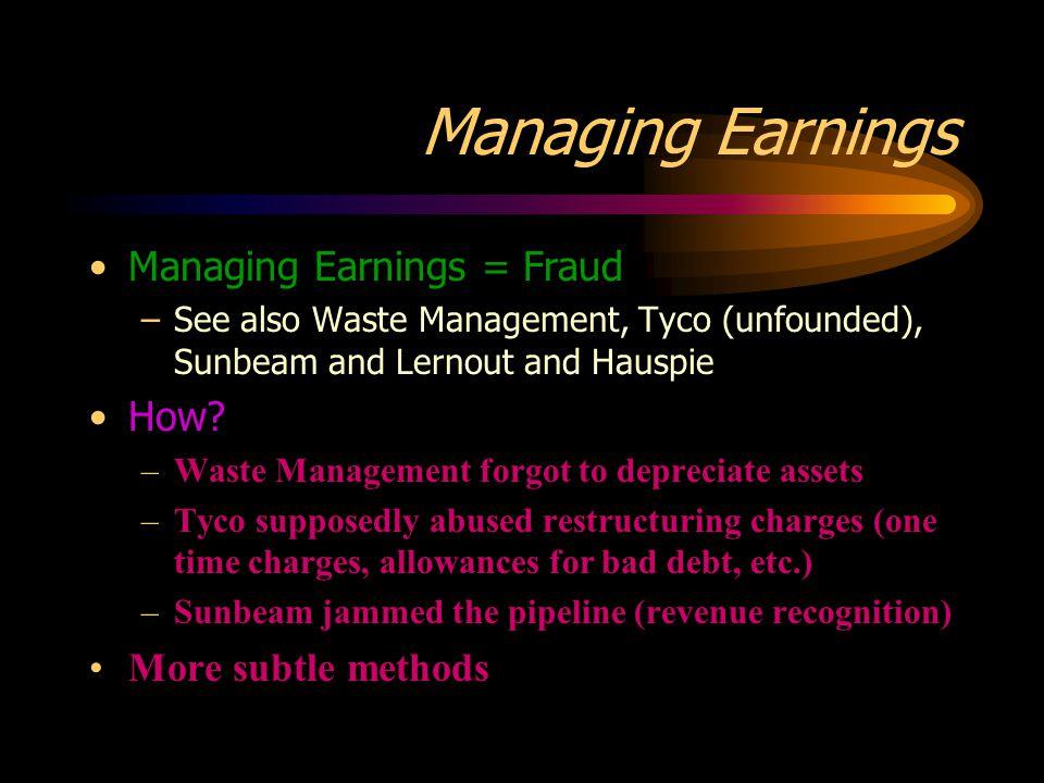 Managing Earnings