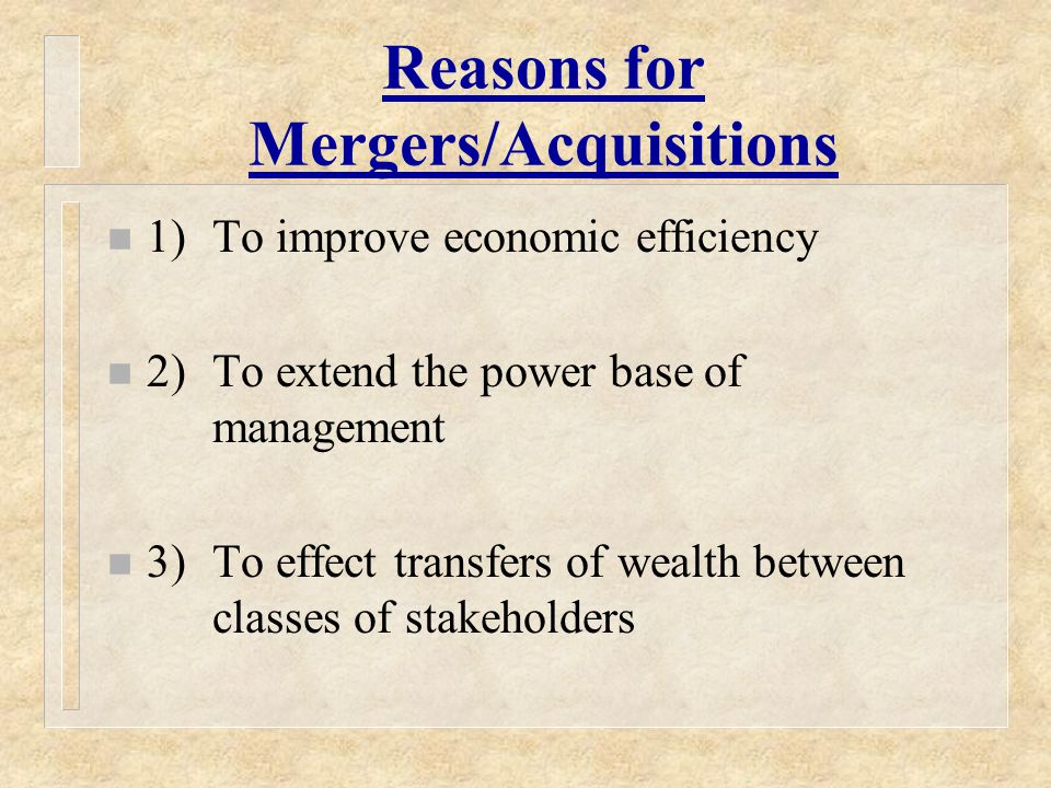 Non-Tax Issues in Mergers, Acquisitions, and Divestitures n Financial Reporting Costs – Purchase Accounting – Pooling of Interests Accounting* n Transaction Costs n Contingent or Unrecorded Liabilities n Managerial and/or Control Issues * FASB eliminated this method after 2001