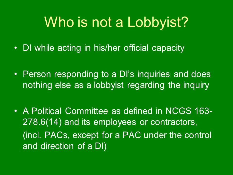 Who is not a Lobbyist.