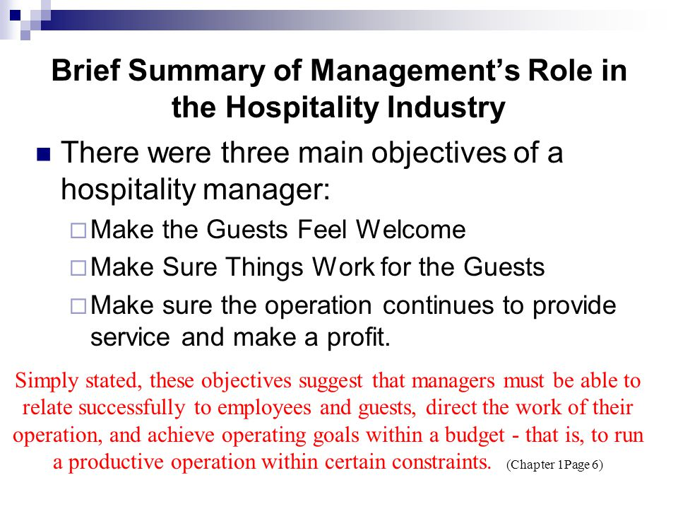 Why Study in a Hospitality Management Program.