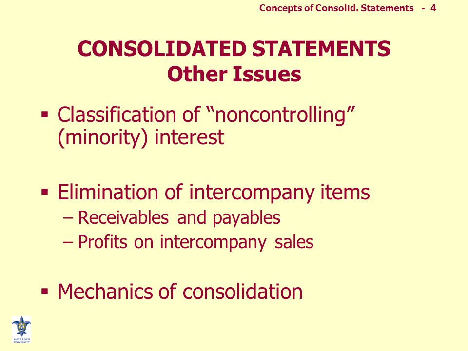 Concepts of Consolid.Statements - 24 SFAS No.