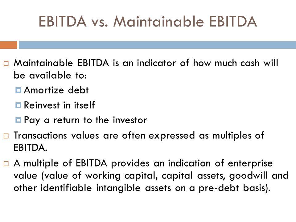 EBITDA vs.