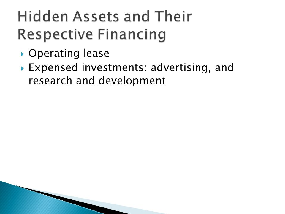  Operating lease  Expensed investments: advertising, and research and development
