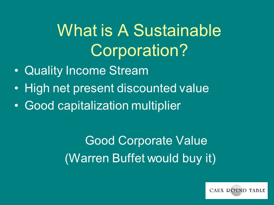 Fundamental Principle: The ownership of wealth entails stewardship.