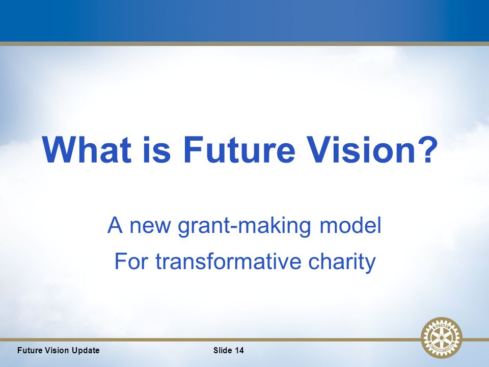 14 What is Future Vision.