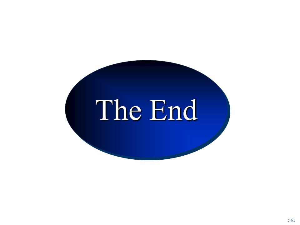 Conclusion The End 5-61