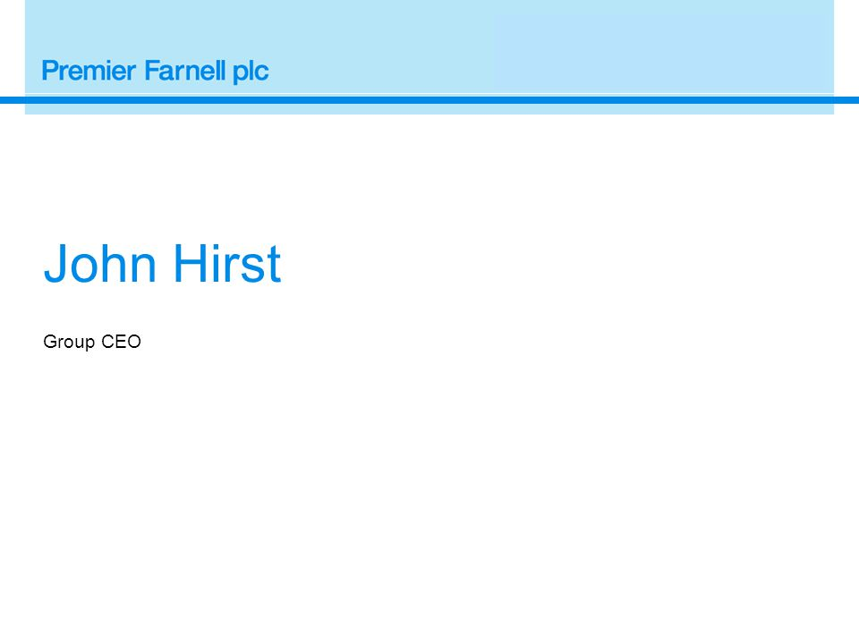Group CEO John Hirst