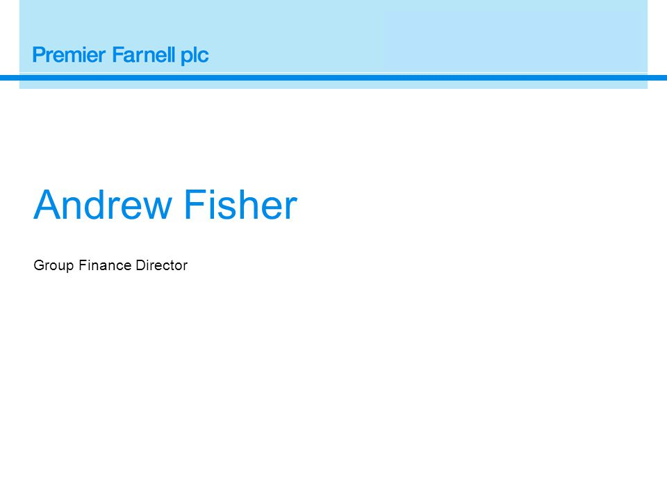 Group Finance Director Andrew Fisher