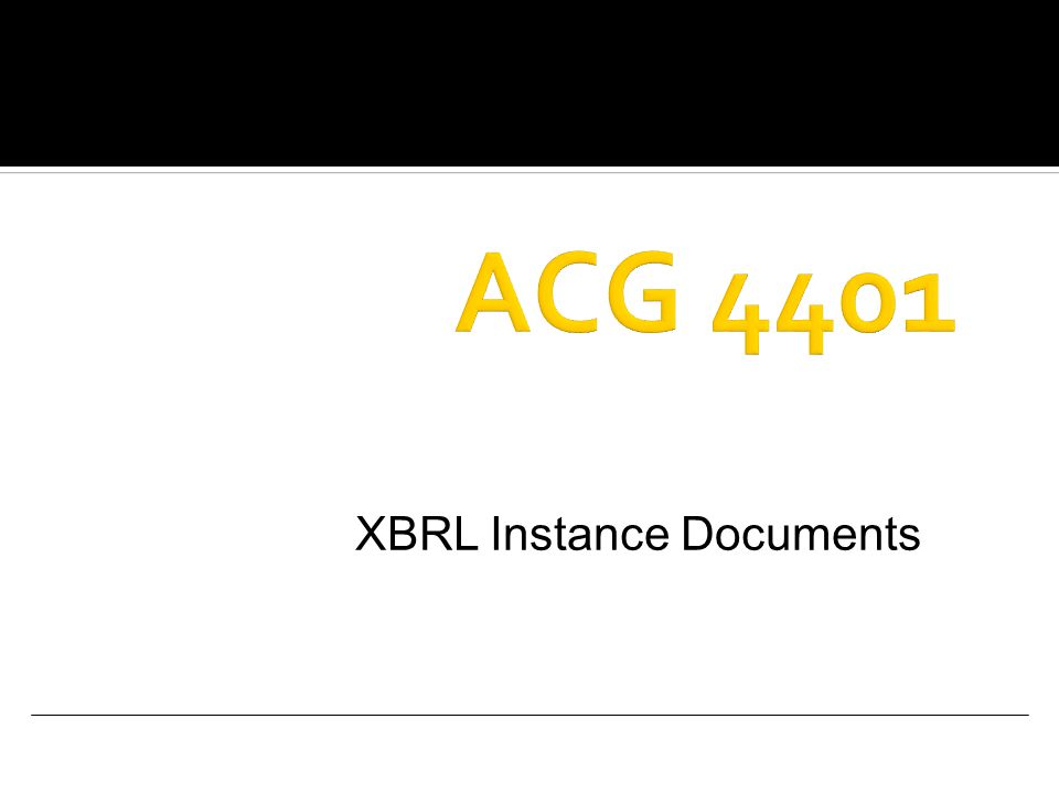 XBRL Instance Documents