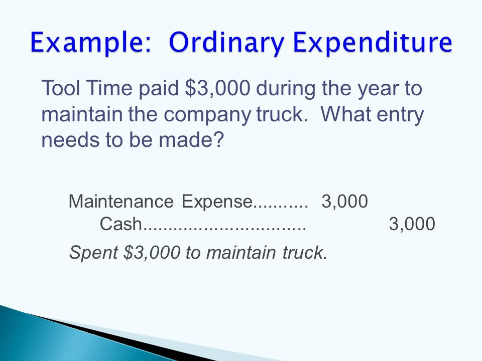 Maintenance Expense........... 3,000 Cash................................