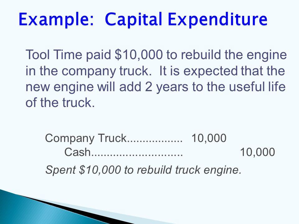 Company Truck.................. 10,000 Cash.............................
