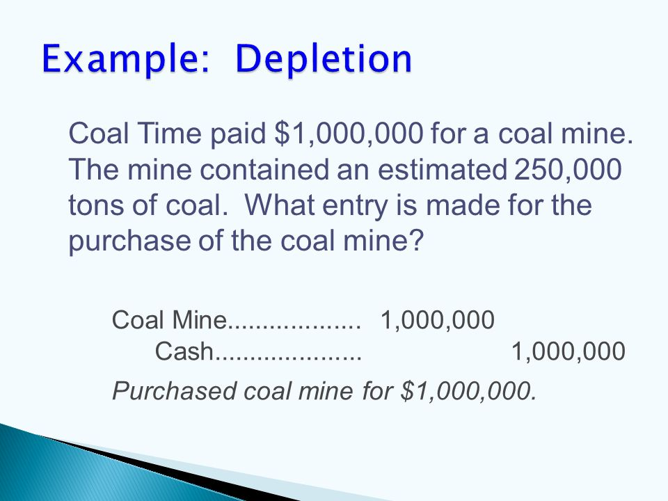 Coal Mine................... 1,000,000 Cash.....................