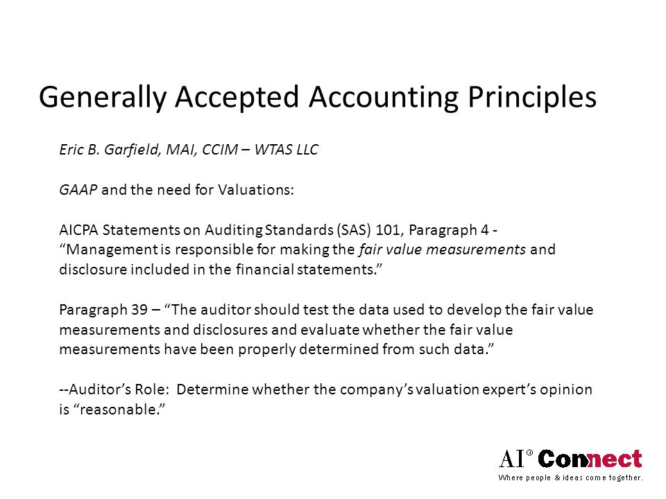 Generally Accepted Accounting Principles Eric B.