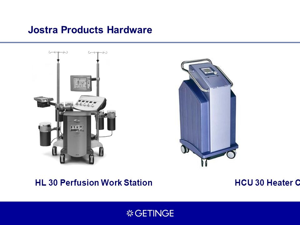 HL 30 Perfusion Work StationHCU 30 Heater Cooler Unit Jostra Products Hardware
