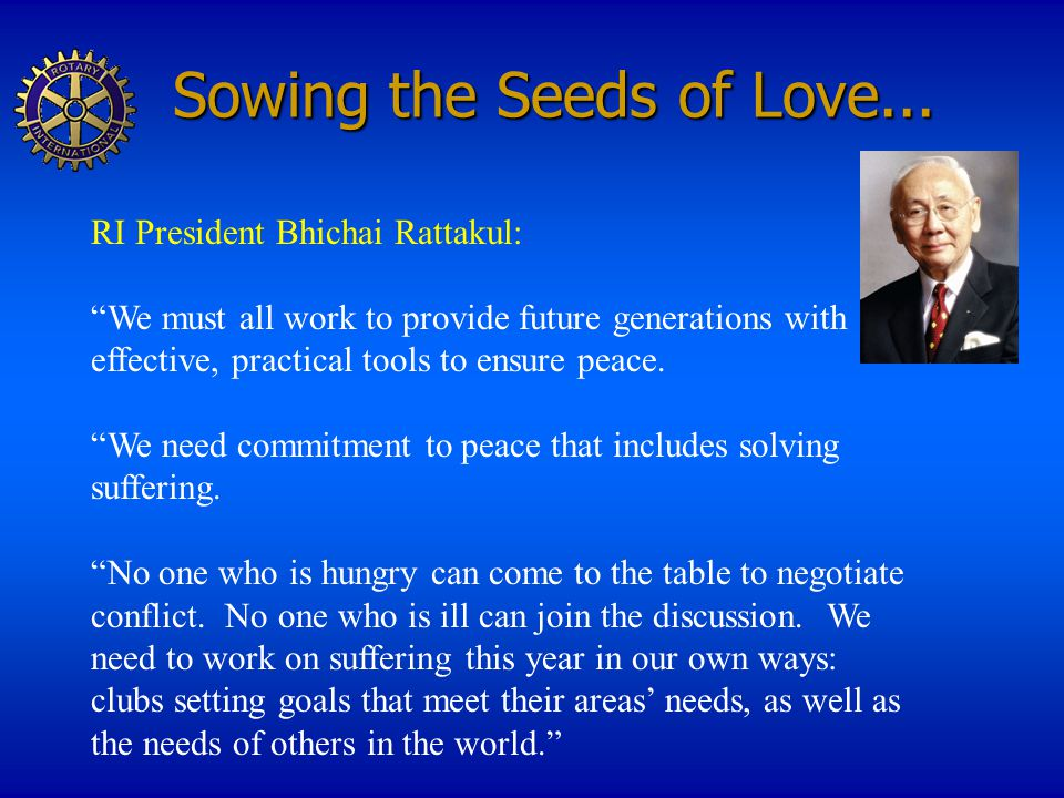 Sowing the Seeds of Love...