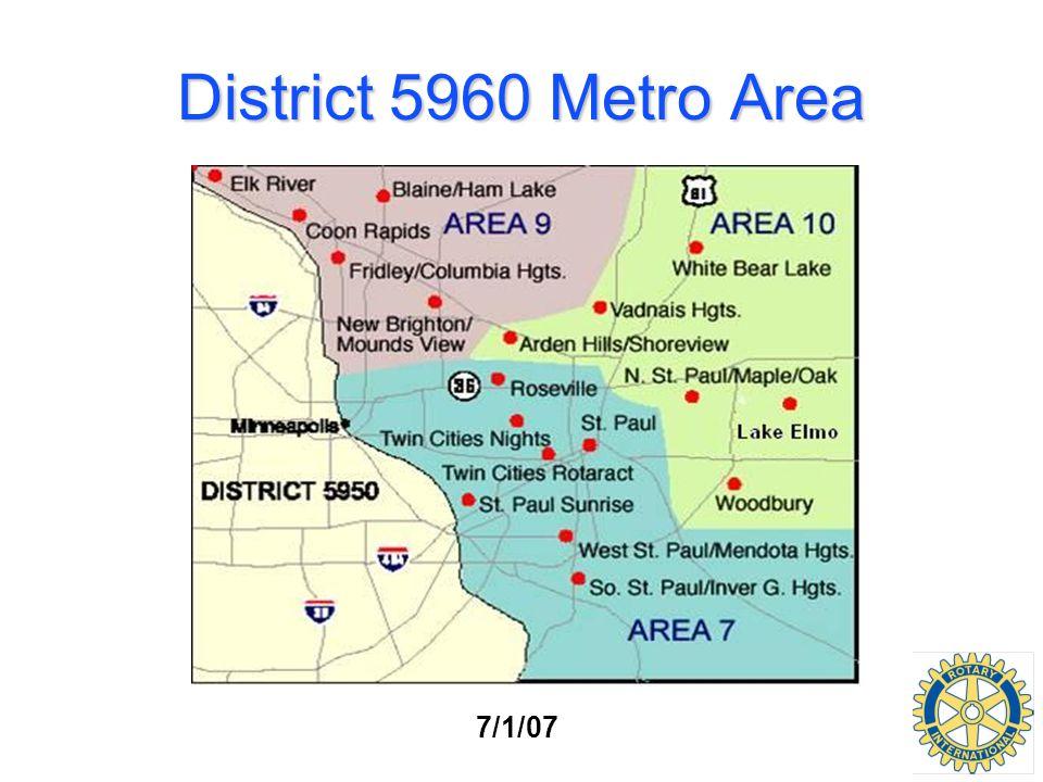 District 5960 Metro Area 7/1/07