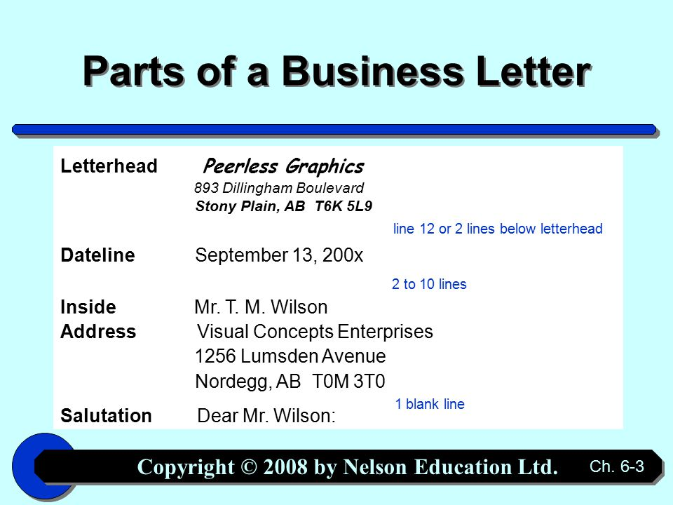 Copyright © 2008 by Nelson Education Ltd. Ch.
